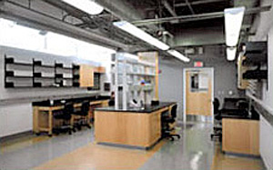 Lab inside the Charles E. Schmidt Biomedical Science Center
