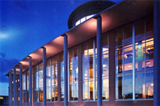 Exterior view of Colorado State University's Morgan Library Addition, Fort Collins, CO