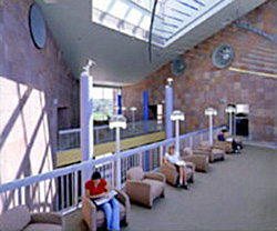Interior view of Colorado State University's Morgan Library Addition, Fort Collins, CO