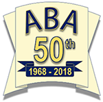 ABA banner celebrating 50 years