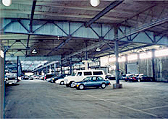Seismic upgrades in rehabilitated pier building-Photo 4 of parking garage interior