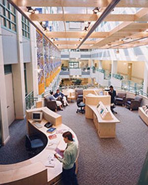 Interior view of New Medical Campus, Bronson Methodist Hospital, Boston, Massachusetts