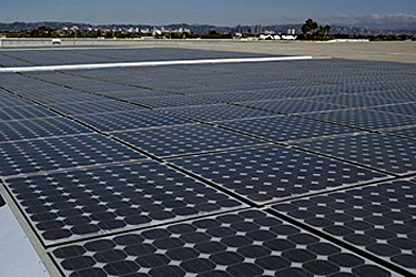 PV systems installed on the roof of a building