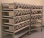High density ventilated racks in an animal research laboratory