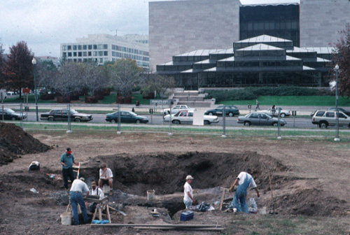 Excavation site at the National Museum of the American Indian, Washington, DC
