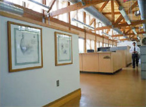 Interior of the Philip Merrill Environmental Center in Annapolis, MD