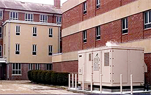 Photo of a fuel cell power plant installation at South County Hospital-Wakefield, RI