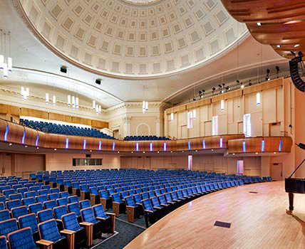 Interior of the 1927 Baldwin Auditorium at Duke University