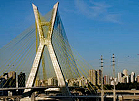 Tensile structure bridge in Brazil