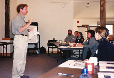 Don Neubacher, Point Reyes Superintendent, welcomes charrette participants at Point Reyes National Seashore Greening Charrette
