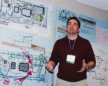 Leader for one of the charrette work groups at the Charrettee for Southface New Office Building