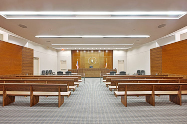 Interior of a District Court
