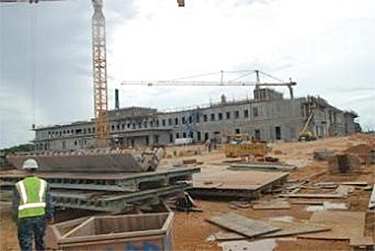 Guam Naval Hospital under construction