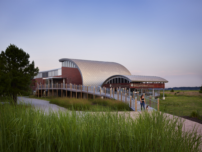 Exterior western view of the Brock Environmental Center