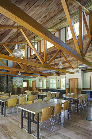 Interior of the Morris & Gwendolyn Cafritz Foundation Environmental Education Center