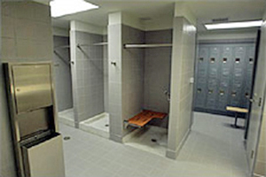 Locker and shower facilities for bicyclists