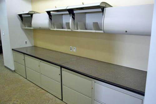 Wheat board counter with laminated top