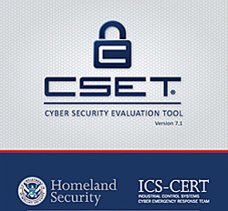 Screen shot of the DHS Cyber Security Evaluation Tool