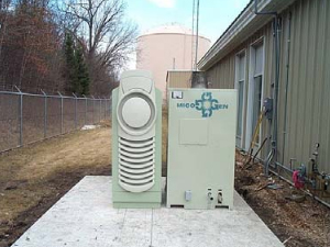 30 kW Capstone Microturbine installed at the Dakota Station natural gas distribution company in Burnsville, MN