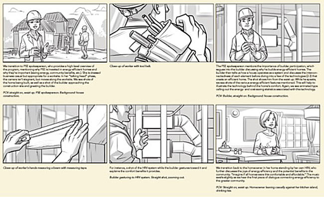 Puget Sound Energy sample concept storyboards