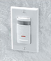 Example of a white wall switch occupancy sensor