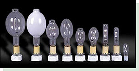 Different HID metal halide lamps