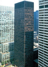 Photo of the Seagram Building in New York
