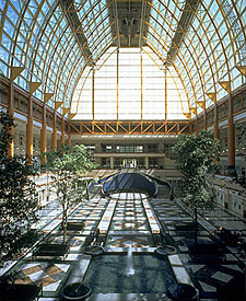 Example of an interior system on a slope-faced atrium at 311 South Wacker Drive-Chicago, IL