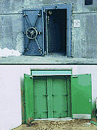 2 examples of permanent flood doors