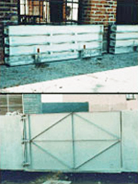 2 examples of permanent flood gates