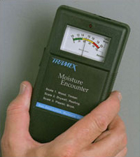 Typical pinless moisture meter