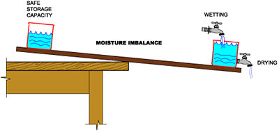 Moisture imbalance illustration
