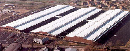 Photo of high-reflectance, high emissivity roofing