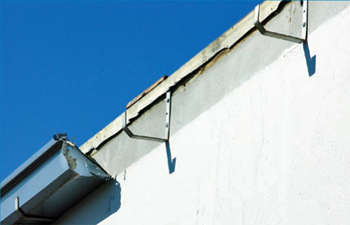 Gutter only designed for gravity load