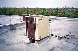 Supplemental securement straps anchoring HVAC equipment
