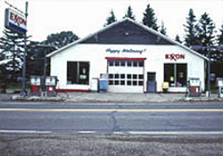 Photo of an Exxon gas station