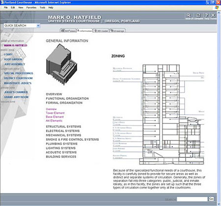 Screenshot of the website currently under development at Georgia Tech as a part of a comprehensive multi-media courts information database