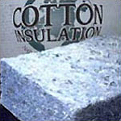 Photo of recycled cotton/polyester insulation
