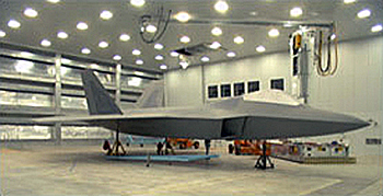 Photo of F22 Fighter Aircraft Robotic Coating Facility, Lockheed Martin Aeronautical Systems Company-Marietta, Georgia