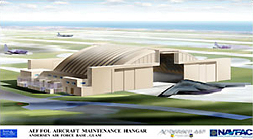 Guam Air Force special hangar rendering