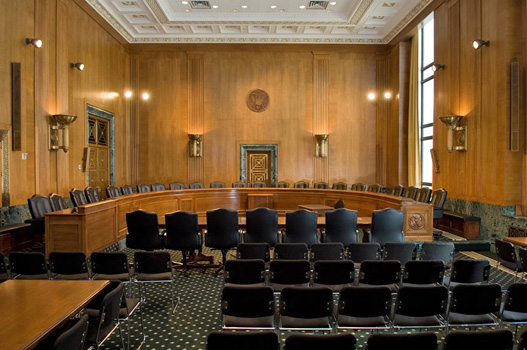 Photo of a hearing room