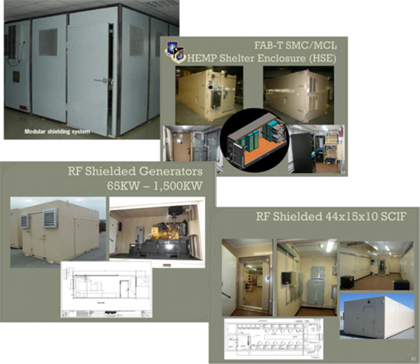 Examples of Air Force AFIMSC EMP-in-a-Box solutions