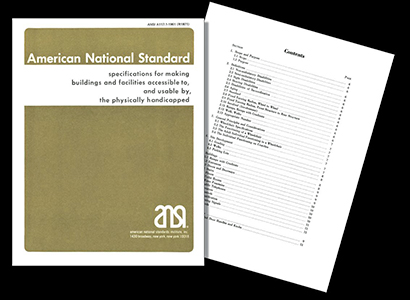1961 ANSI standard cover and index
