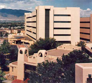 Exterior aerial-style photo of VA Medical Center, Albuquerque, NM