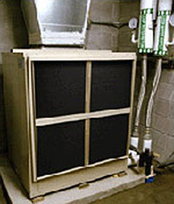 Photo of a geothermal heat pump