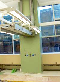 NC State labs supported by flexible mechanical systems
