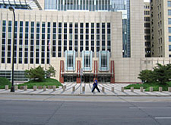 Bollards along the front entrance to the Federal Courthouse, Minneapolis MN