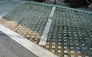 Photo of Belgium block pavers in parking bays