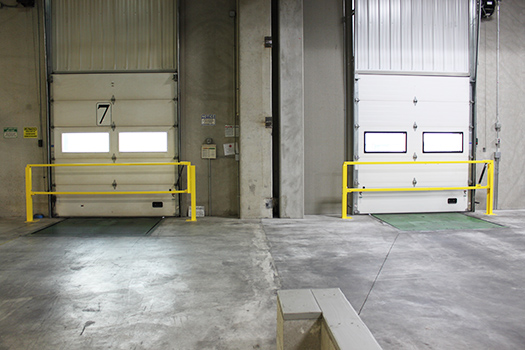 loading dock with safety gate
