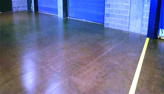 Loading dock flooring that is clean and well cared for